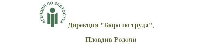 """Дирекция """"Бюро по труда Родопи""""- Пловдив провежда процедури за кандидатстване на  работодатели за преференции по програми и насърчителни мерки за заетост и обучение на безработни лица"""